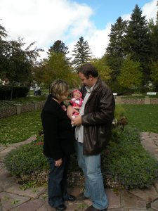 Mom and Dad & Lillian at McKennan Park.