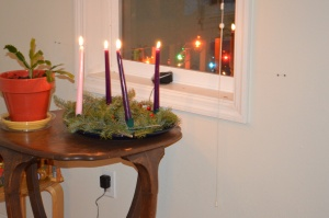 We lit our last advent candle