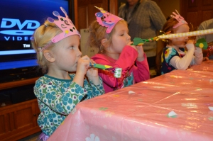 The party blowers were a big hit.
